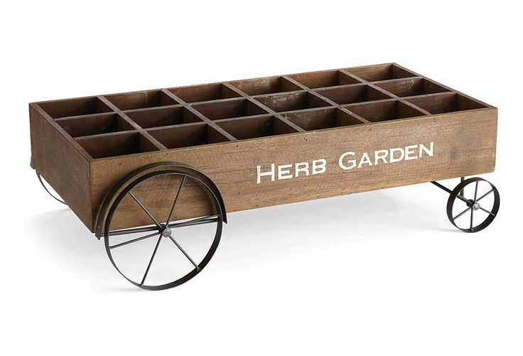 "31"" Herb Cart, Brown 