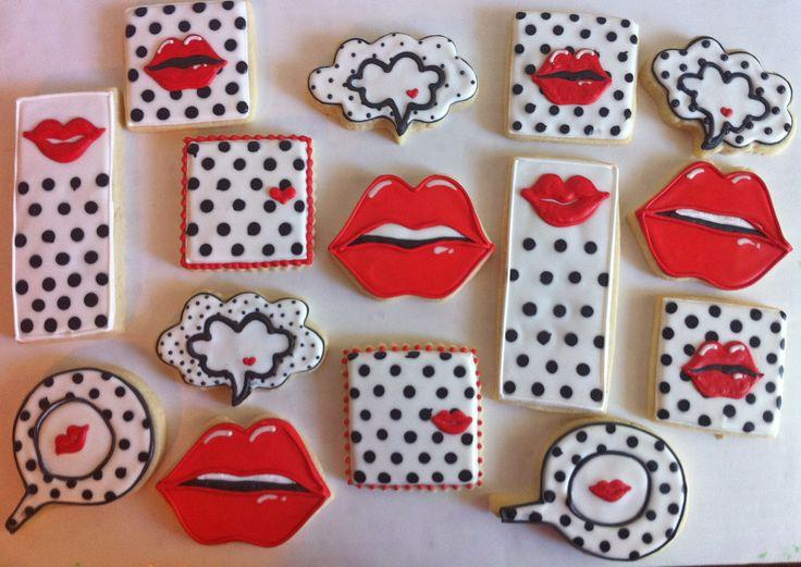 Pop-Art Themed Cookies - HayleyCakes And Cookies