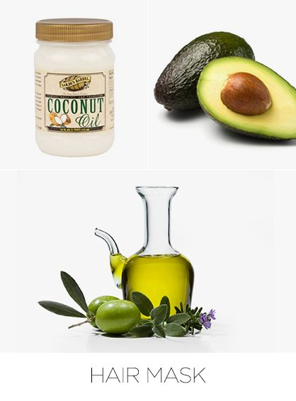 Hair Mask-----If excessive styling leaves your hair dry and brittle, try a homemade hair mask to rescue damaged strands. Known as one of nature's best moisturizers, coconut oil also promotes hair growth and a healthy scalp.