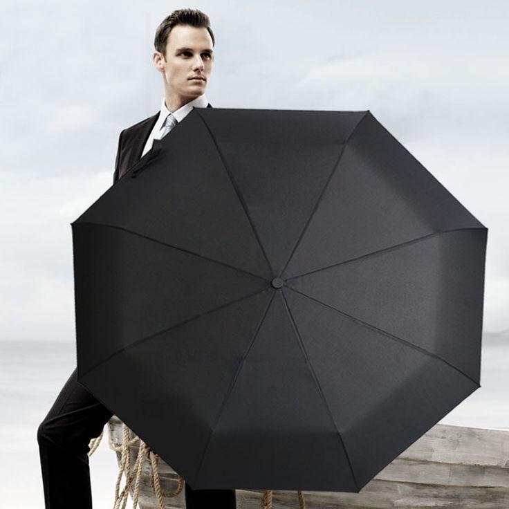 Wind Resistant Folding Automatic Umbrella Compact Auto Open & Close Travel Umbrella Rain Man Canopy 8 Ribs Business Umbrella