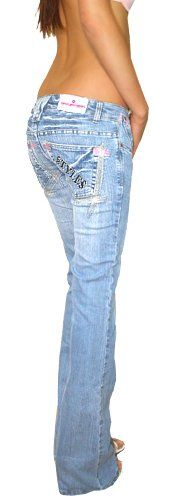bestyledberlin Jeans taille basse style low rise jeans pour femme: Amazon.fr…