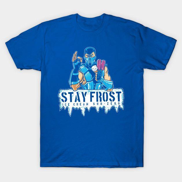 Stay Frost Subzero Ice Cream T-Shirt - Mortal Kombat T-Shirt is $14 today at TeePublic!