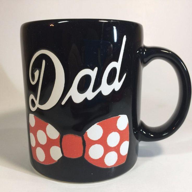 Waechtersbach Mug Black Dad Bowtie Red Polka Dot Spain  #Waechtersbach