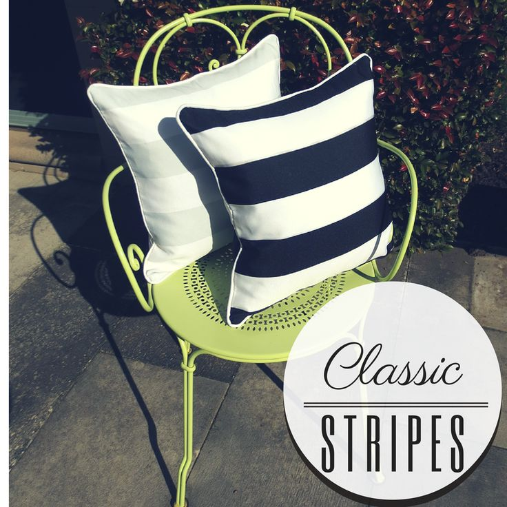 Classic striped cushion