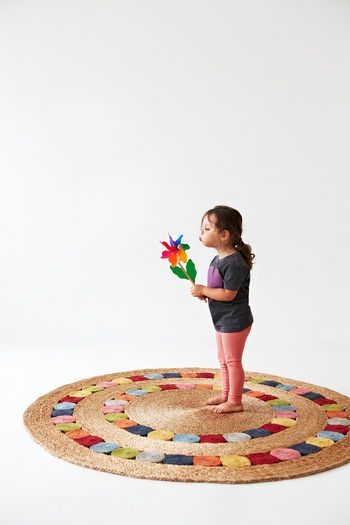 Round Dandelion Rug - Multi Colour