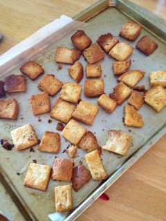 Homemade Garlic Butter Croutons | Yum! | Pinterest