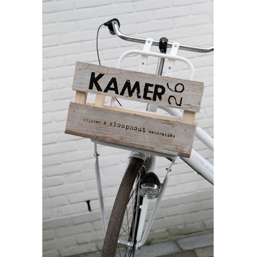 Verfsjabloon fietskrat/hout