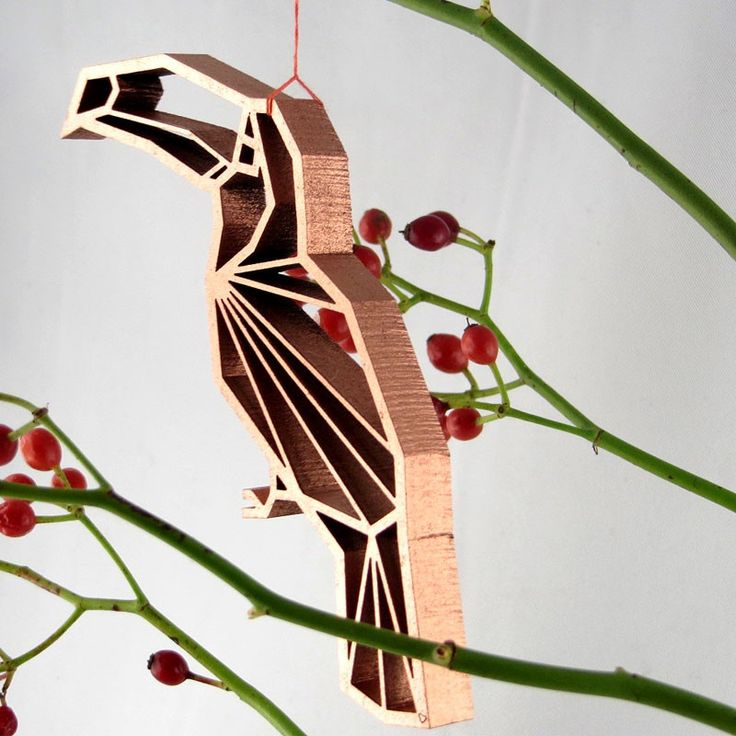 Holz Deko Motiv Origami Geschenk NOGALLERY