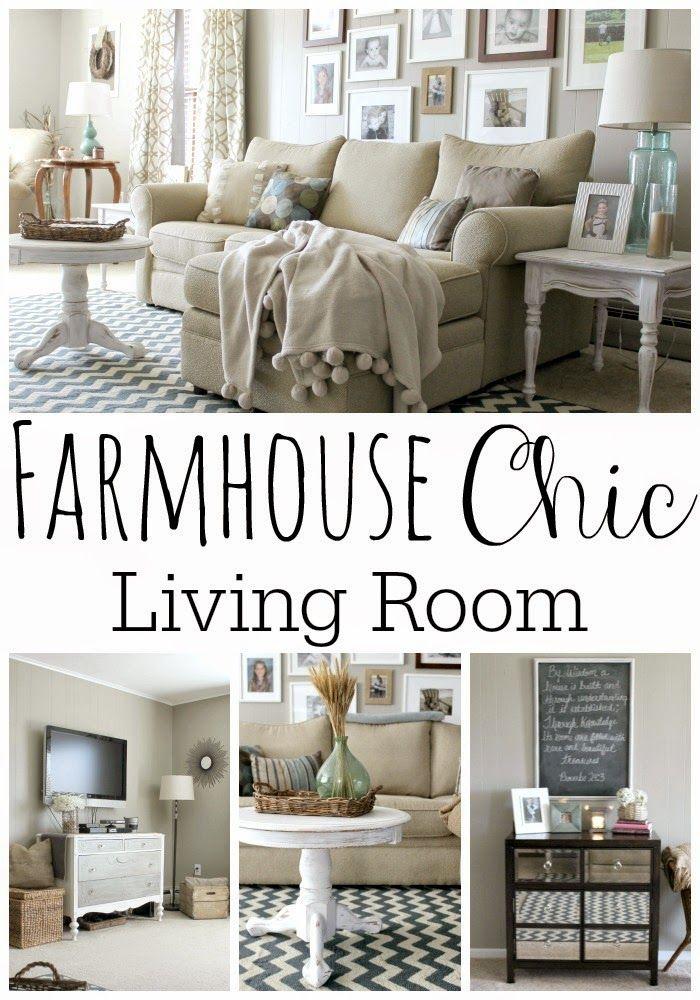 44 best Living Room Love images on Pinterest Fireplace makeovers - farmhouse living room decor