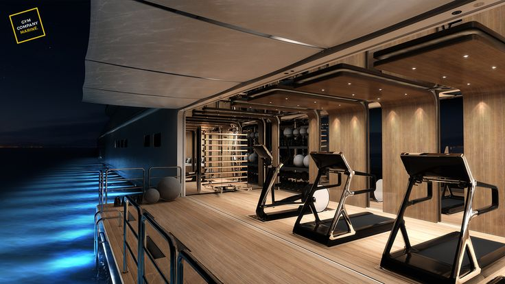 ThirtyC Design #superyacht #yacht #design #megayacht #luxury #yachtdesign #ocean #gym #interior #workout www.thirtyc.com