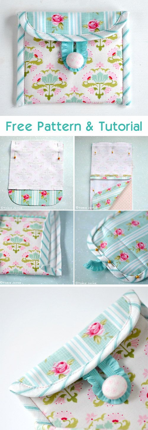 Coin Purse Sewing Tutorial http://www.free-tutorial.net/2017/09/coin-purse-sewing-tutorial.html