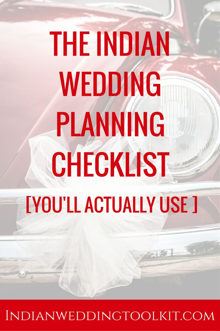 Use this wedding planning checklist for any kind of Indian wedding or fusion Indian wedding. Use the planning checklist in combination with a more detailed wedding checklist [that'll be unique to your wedding]. Click through to download the free checklist!