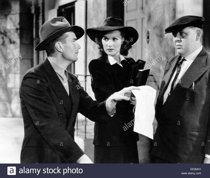 Kent Smith, Maureen O'Hara, Charles Laughton, on-set of the Film Stock Photo, Royalty Free Image: 80601949 - Alamy