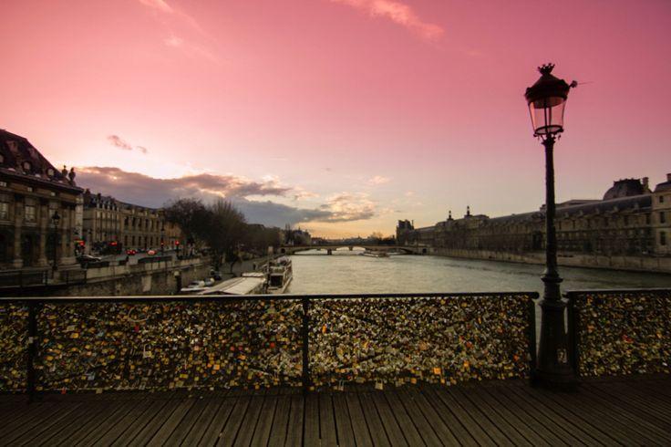 Padlock Bridge. Paris, France.