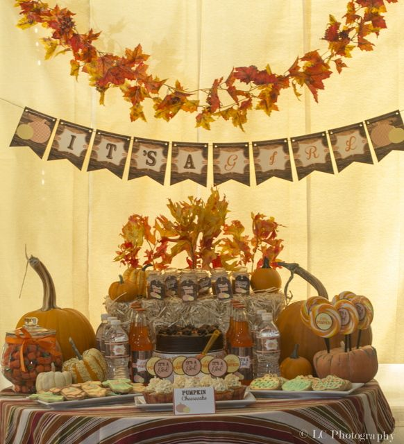 "Photo 1 of 16: Fall Baby Shower / Baby Shower/Sip & See ""Little Pumpkin Baby"""