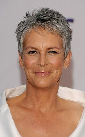 Jamie Lee Curtis - she is so beautiful and I love the pixie cut. This is what my hair looks like most of the time.