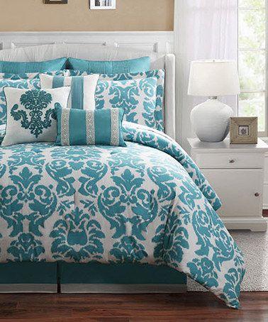 Look at this #zulilyfind! Nine-Piece Aqua Comforter Set #zulilyfinds