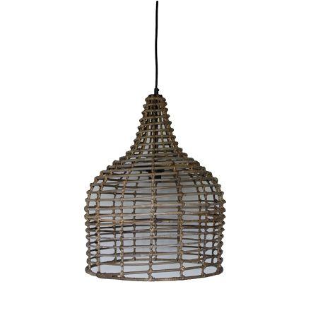Rieten hanglamp 90€ rond naturel voor meer sfeer in uw interieur. De lamp staat zowel in woonkamer, slaapkamer als de hal erg mooi.