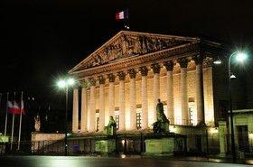 Le palais Bourbon, siège de l'Assemblée nationale française