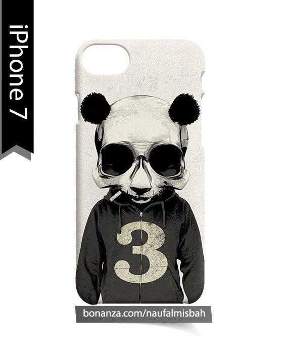Panda Skull iPhone 7 Case Cover Wrap Around