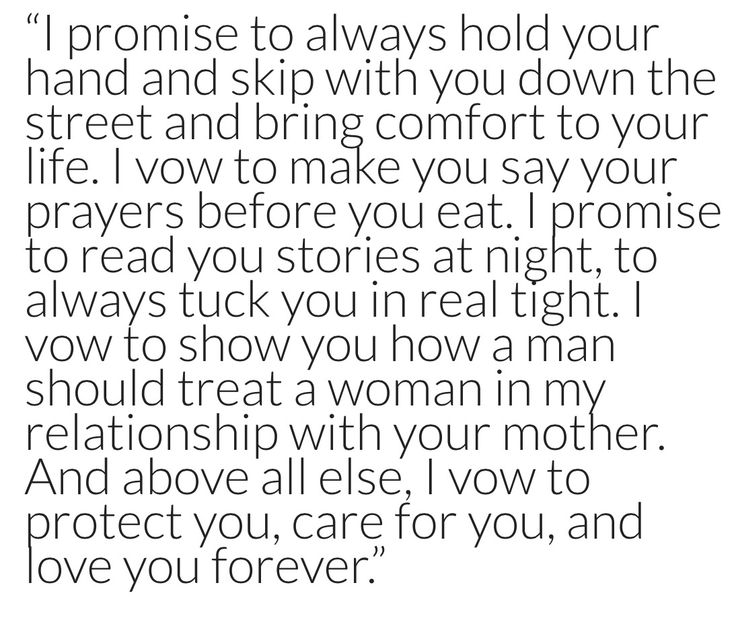 Vows for Step Daughter