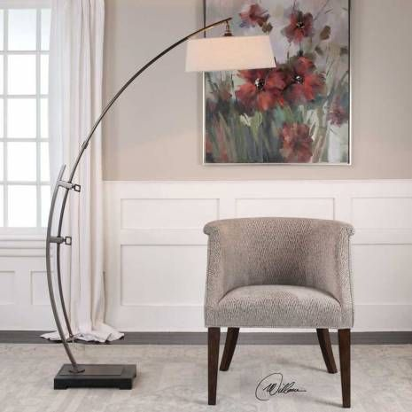 Uttermost contemporary bronze arc floor lamp