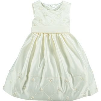 Cream Flared Prom Dress