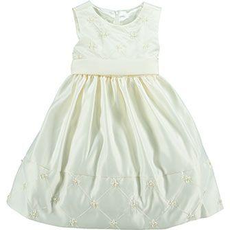 Cream Flared Prom Dress