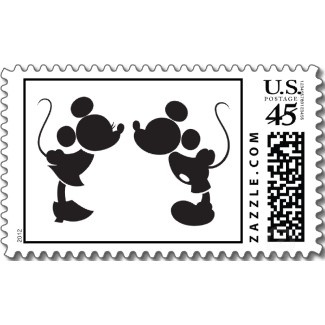 Minnie and Mickey Silhouette stamp