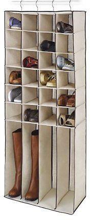 Whitmor 28-Pocket Hanging Closet Organizer Shoe/ Boots Canvas Storage