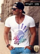 Bye Hater Men's White T-shirt Stretchy Cotton Fitness Tank Top MD142