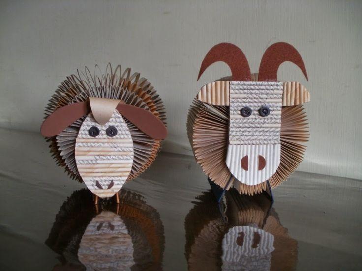 sheep and mutton made from books | clara maffei