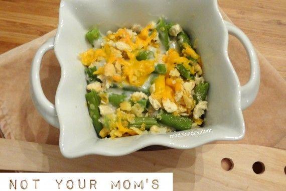 Not your Mom's Green Bean Casserole #thanksgiving #casserole
