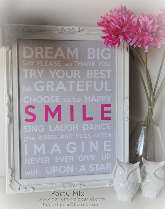Dream Big A3 Print for Nursery by PartyMixProducts on Etsy, $24.95
