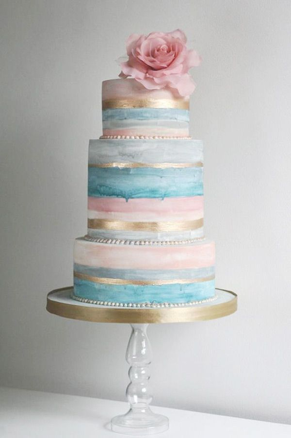 Bold and Beautiful - Our Favourite Striped Wedding Cakes