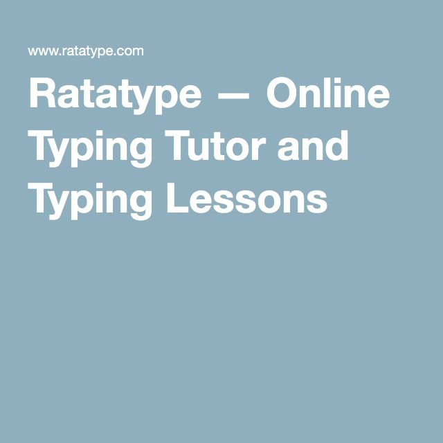 ratatype typing test