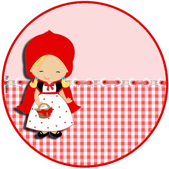 """Kit de Personalizados Tema """"Chapeuzinho Vermelho"""" para Imprimir - Convites Digitais Simples"""