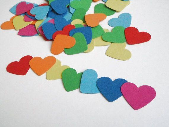 93 cuori arcobaleno coriandoli nozze matrimonio gay pride decorazione tavola scrapbooking san valentino cartoncino battesimo lasoffittadiste