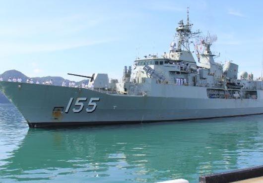 Royal Australian Navy HMAS Ballarat (FFH 155) Anzac Class Frigate.