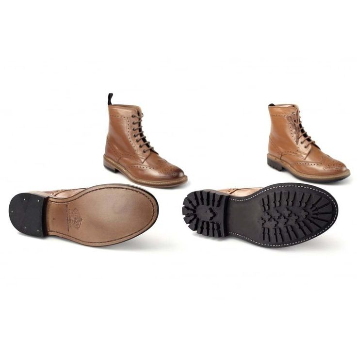 Catesby Shoemakers BALMORAL WINDSOR Mens Welted/Cleated Leather Derby Boots Tan