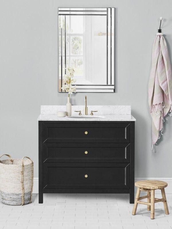 Chester 36 Inch Black Cabinet 36 Inch Bathroom Vanity Single