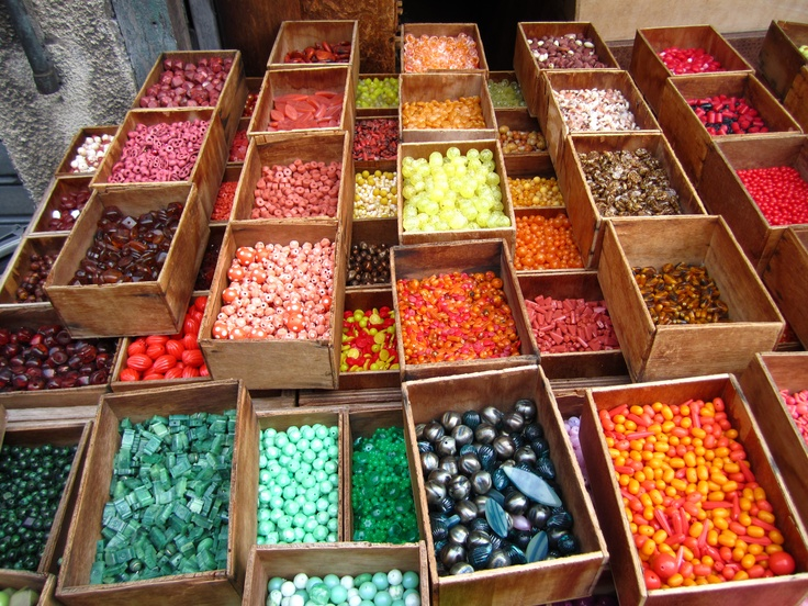 Paris, France: Beads for sale at a Parisian flea market (Rebecca Sisselman '12)