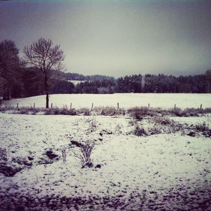 Haute-Loire, Auvergne, France, Snow, Winter