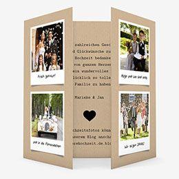 Danksagungskarten Hochzeit  - Liebesglück - 0