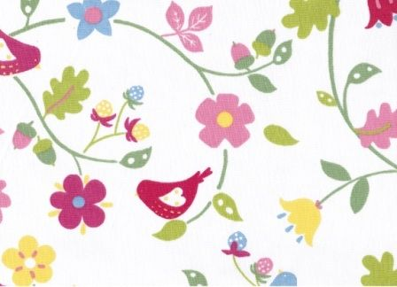 Pretty Birds and Florals FM4067