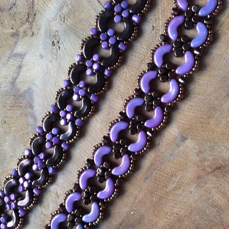 JoMy Creations: 2 leuke armbanden in verschillende kleuren met Arcos en Minos par Puca Beads en Seed Beads. Patroon is ook van Par Puca en heet Julia.