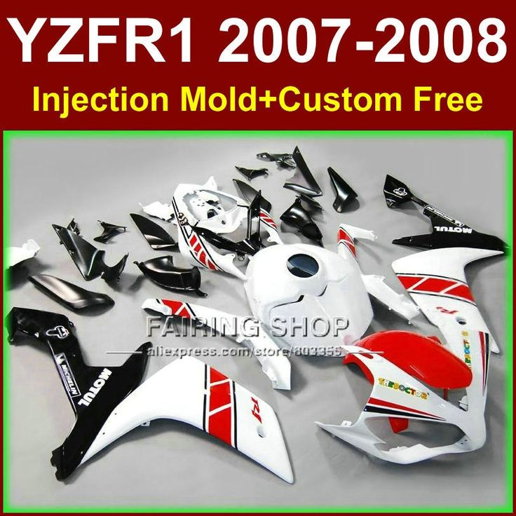 (427.80$)  Watch now - http://ai00f.worlditems.win/all/product.php?id=32383664056 - Pure white bodyworks for YAMAHA YZFR1 2007 2008 R1 fairing sets YZF R1 YZF1000 YZF 1000 07 08 fairings kits GF6R