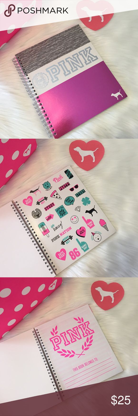 VS PINK Planner 2016-2017 NWT pink planner 2016-2017 Stickers including Bundle & save $$$$$$$ Check out my closet PINK Victoria's Secret Other