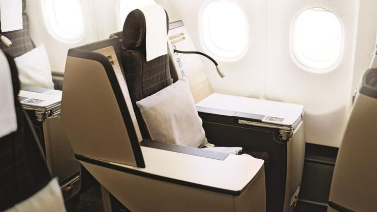 The best seat on a plane is the rare 'throne' configuration. Picture: Swiss Air