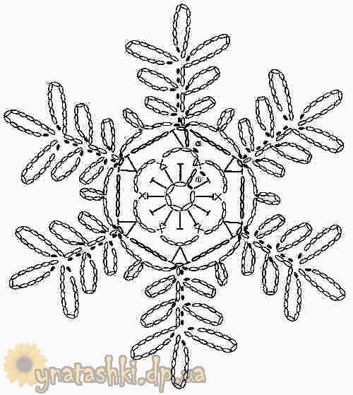 snowflakes crochet 264